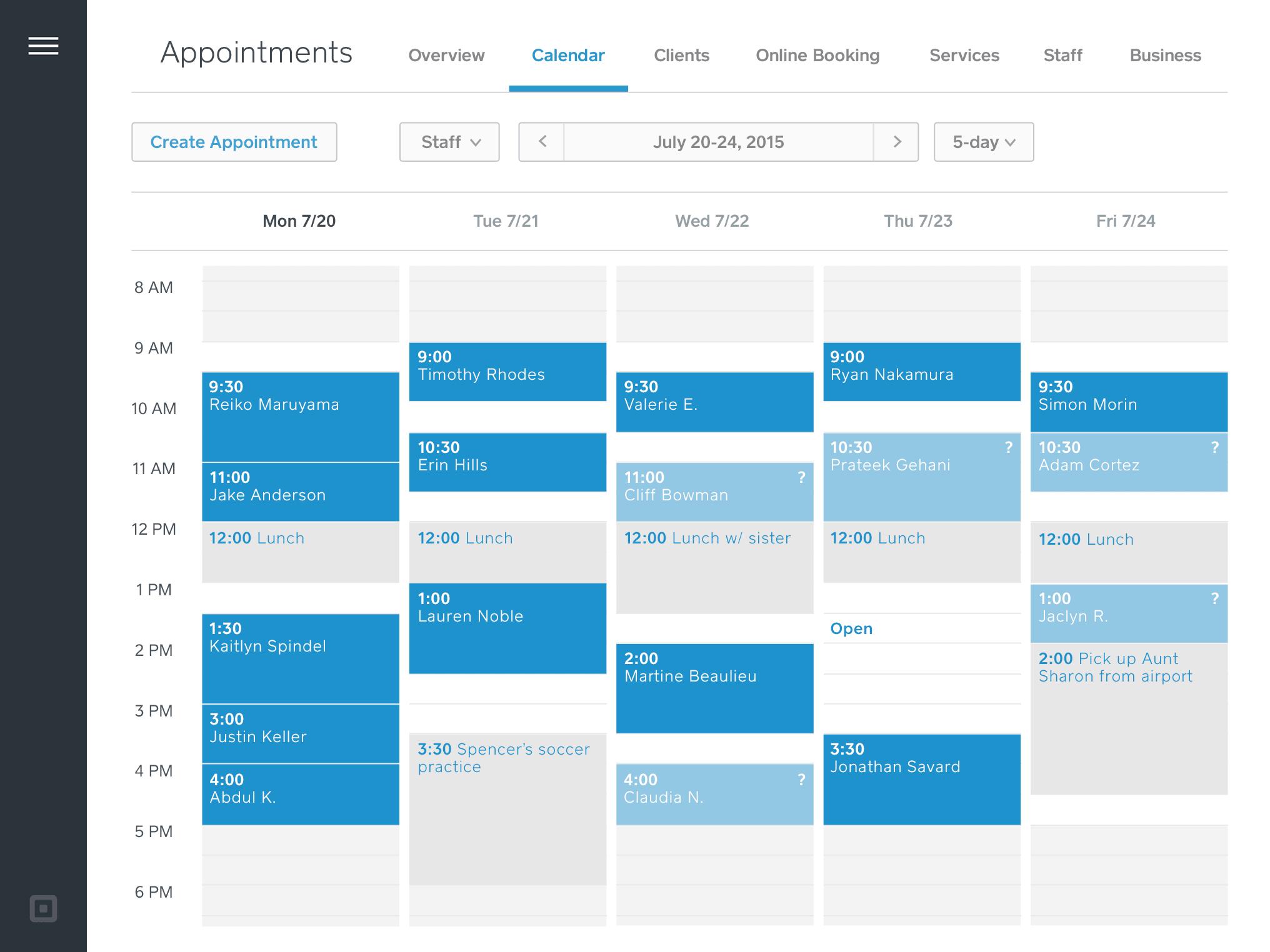 online appointment calendar